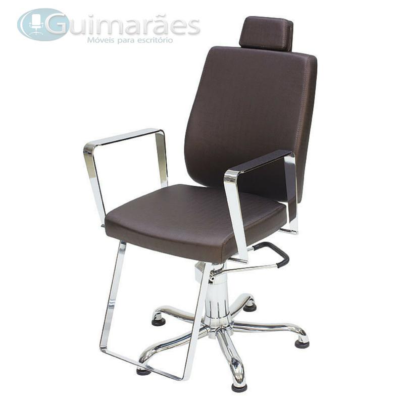 Cadeira Cabeleireiro Croma Reclinável